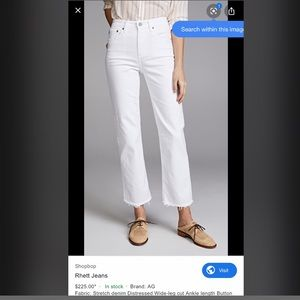 AG Adriano Goldschmied white Rhett jeans